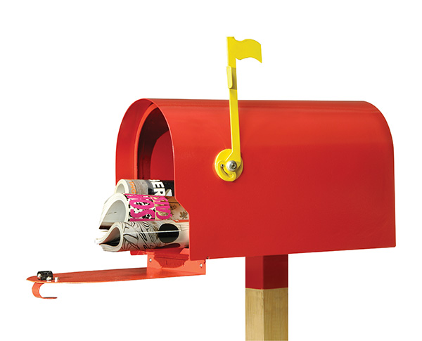 Mailbox with catalogs