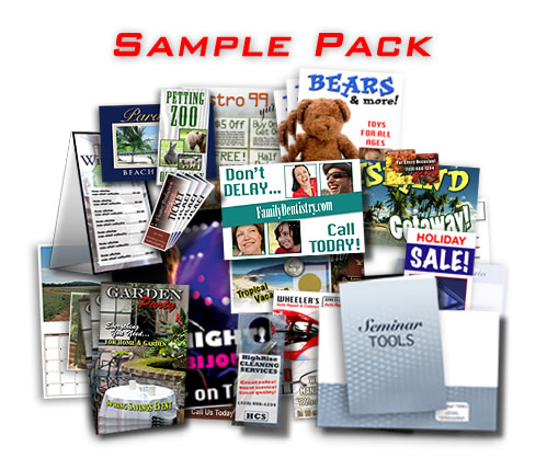 Sample pack from PrintDirectforLess.com